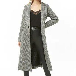 Longline Tweed Coat